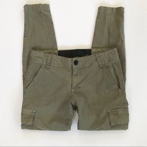 Joe's green cargo skinny pants size 27
